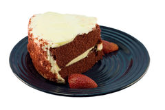 Slice of red velvet cake  Stock Image