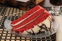 Slice of red velvet cake Stock Photo