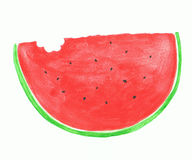 Slice of red watermelon Stock Photos