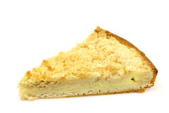 Slice of rice and cream pie Stock Images