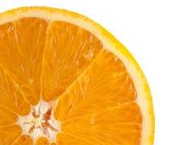 Slice of ripe orange isolated on white background Stock Photos