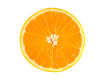 Slice of ripe orange isolated on white Royalty Free Stock Photo
