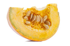 Slice of ripe orange pumpkin Royalty Free Stock Images