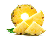 Slice of ripe pineapple. Royalty Free Stock Image