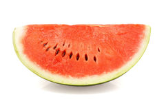 Slice of ripe watermelon  over white Stock Image