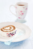 Slice of roll cake Royalty Free Stock Image