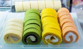 Slice roll cake Royalty Free Stock Photos