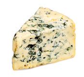 Slice of Roquefort cheese Royalty Free Stock Image