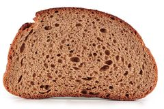 A slice of rye bread. Royalty Free Stock Photography