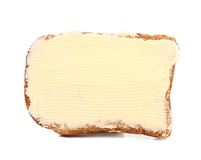 Slice of rye bread with butter Royalty Free Stock Images