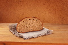 Slice of rye bread Royalty Free Stock Images