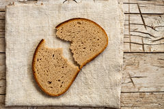Slice of rye bread Stock Photos