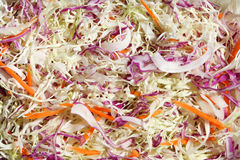 Slice salad vegetable. Salad from sliced cabbage and carrot Stock Image