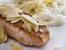 Slice of salmon Stock Photo