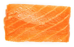 Slice of salmon Royalty Free Stock Images