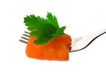 Slice of salmon Royalty Free Stock Photography