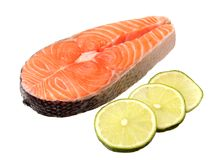 A slice of salmon fish Stock Photography