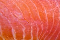 Slice of salmon fullscreen. Extreme close up Stock Photos
