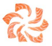 Slice salmon isolated on the white background.  Royalty Free Stock Photos