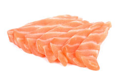Slice salmon isolated on the white background.  Stock Photography