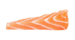 Slice salmon isolated on the white background.  Stock Images
