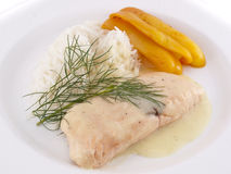 Slice of salmon with rice Stock Image
