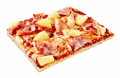 Slice of scrumptious Italian Hawaiian pizza Stock Photography