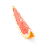 Slice section of grapefruit isolated over the white background Stock Image