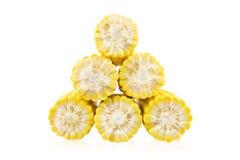 Slice six ears of corn Royalty Free Stock Photography