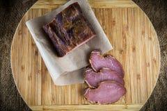 Slice of smoked ham Royalty Free Stock Photo