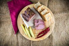 Slice of smoked ham Royalty Free Stock Photography