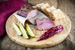 Slice of smoked ham Royalty Free Stock Image