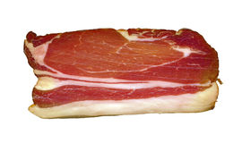 Slice of a smoked pork bacon Royalty Free Stock Photography