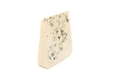 Slice of soft blue cheese with mold  Stock Photos