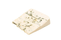 Slice of soft blue cheese with mold  Royalty Free Stock Photos