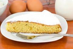 Slice of sponge cake royalty free stock photography