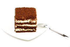 A Slice of Sponge Cake Stock Photography