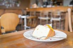 .Slice of sponge cake Royalty Free Stock Photography