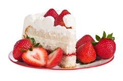 Slice of strawberry cake Royalty Free Stock Photos