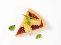 Slice of strawberry cake Royalty Free Stock Images