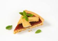 Slice of strawberry cake Stock Photography