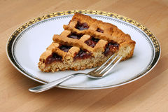 Slice of Strawberry Jam Tart Stock Photography