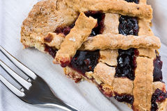 Slice of Strawberry Jam Tart Closeup royalty free stock photos