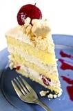 Slice of strawberry meringue cake Royalty Free Stock Photo