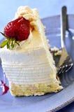 Slice of strawberry meringue cake Stock Photo