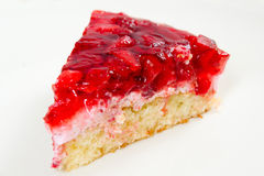 Slice of strawberry pie. Appetizing slice of strawberry pie Royalty Free Stock Photo