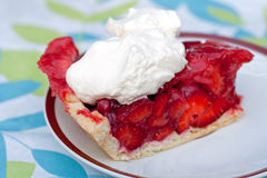 Slice of Strawberry Pie Stock Photography
