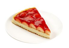 Slice of Strawberry Tart Stock Image