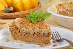 Slice of Streusel Pumpkin Pie Stock Image