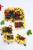 Slice of summer berry tart Stock Photo
